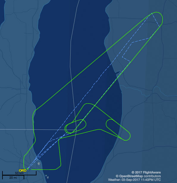 British Airways Flight 294 Route Map Return to O'Hare Flightaware