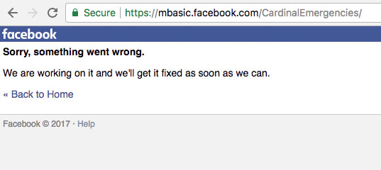 Facebook Something Went Wrong