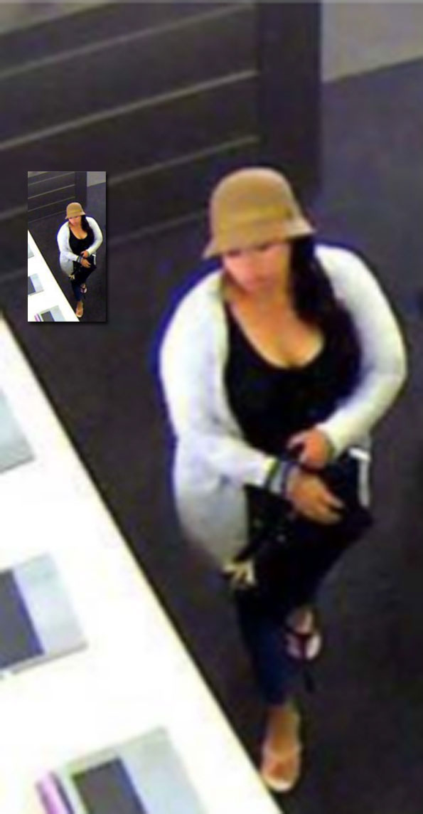 Female wallet theft suspects in unauthorized attempt of credit card purchase of MacBooks