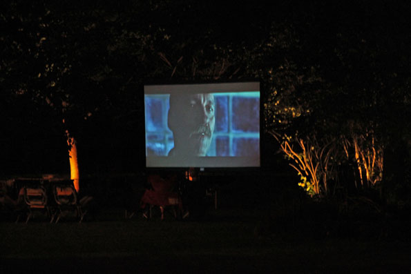 Backyard movies with HD TV projectors.