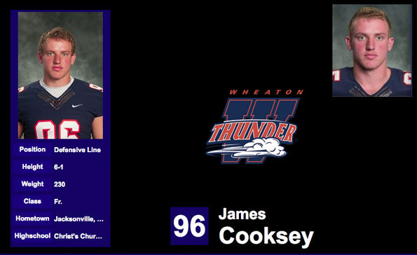 James Cooksey, Wheaton College Football hazing suspect