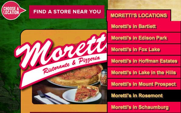 Morettis Location Menu Rosemont