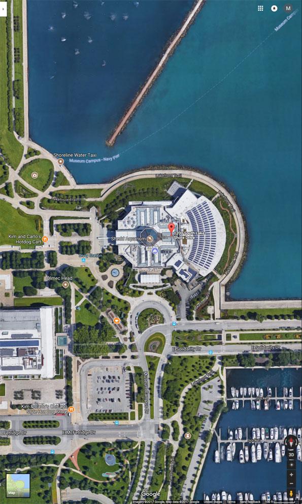 Shedd Aquarium Aerial View