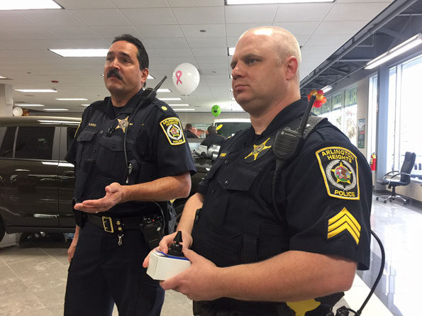 Arlington Heights Police Commander Boyle and Sgt. Commers