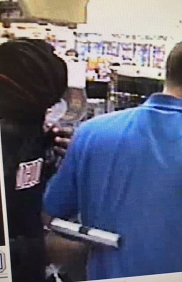 Silver handgun at Naperville Armed Robbery