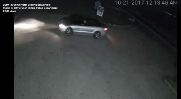 Zion Police Vehicle Wanted Hit and Run