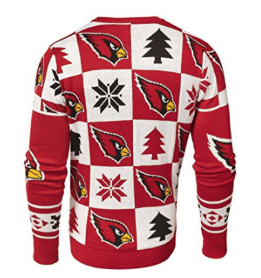 Cardinal Ugly Sweater BACK Patches