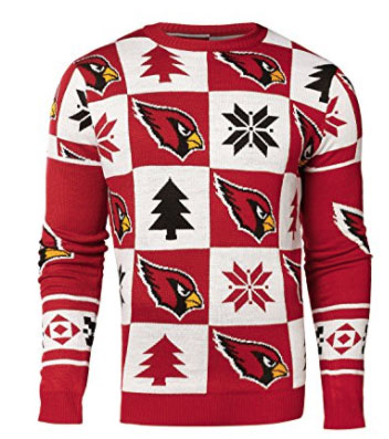 Cardinal Ugly Sweater FRONT Patches