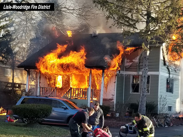 House Fire with fully-involved fire on December 16, 2017