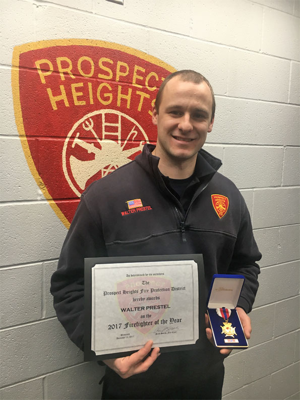 WalterPrestel, Prospect Heights FPD 2017 Firefighter of the Year