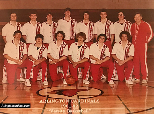 Arlington High School Basketball Team 1981-1982