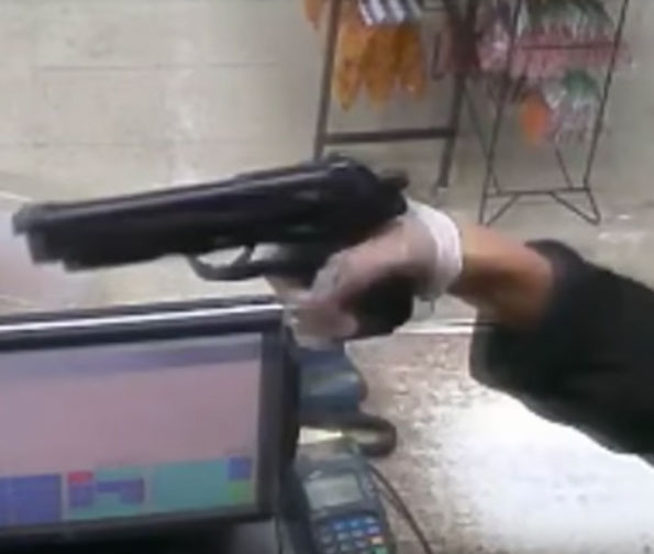 Chicago Robber's Handgun on 47th Street