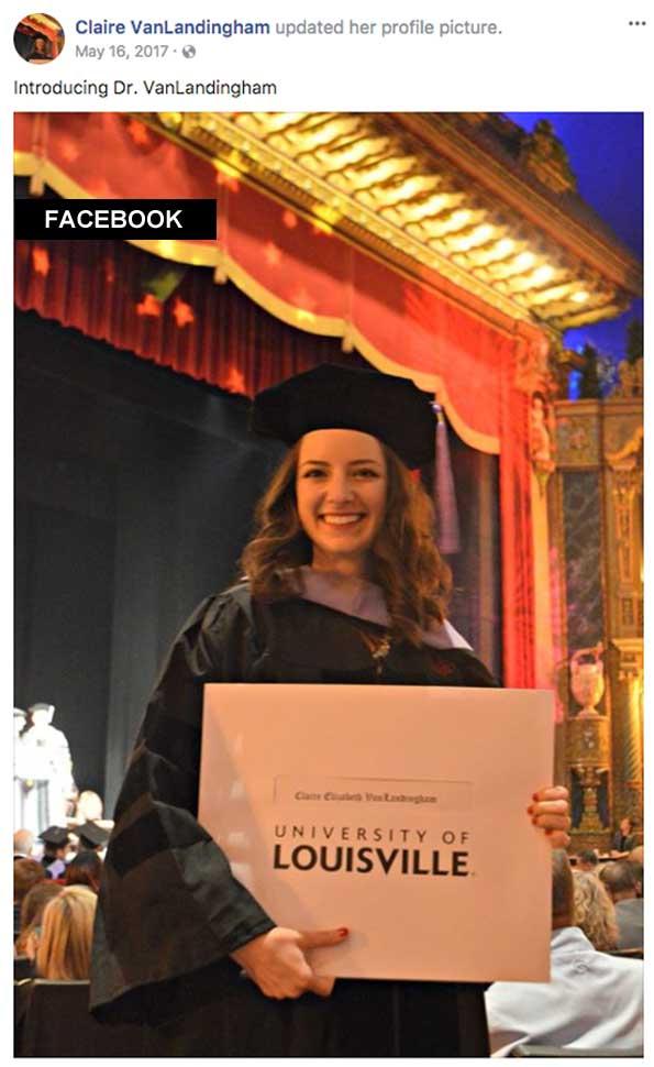 Dr Claire VanLandingham at University of Louisville