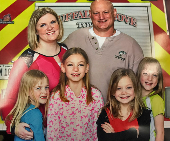 Kevin Hauber Family, Buffalo Grove Fire Department.