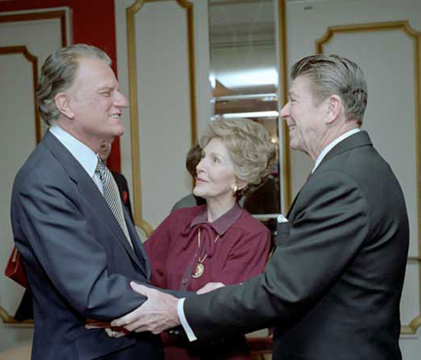 President Reagan and Nancy Reagan with Billy Graham