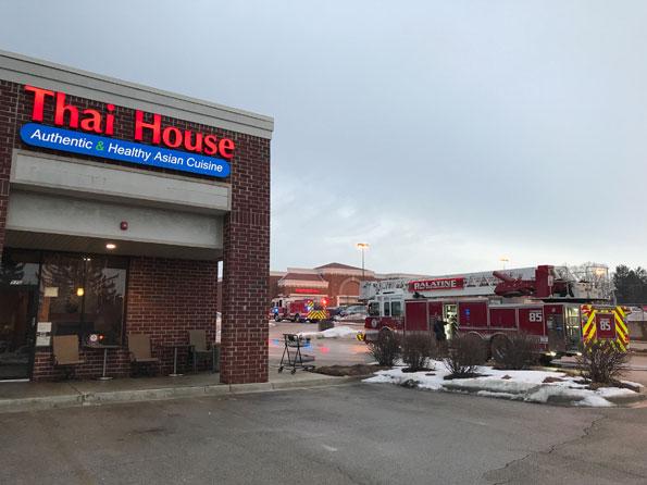 Fire at Thai House Restaurant