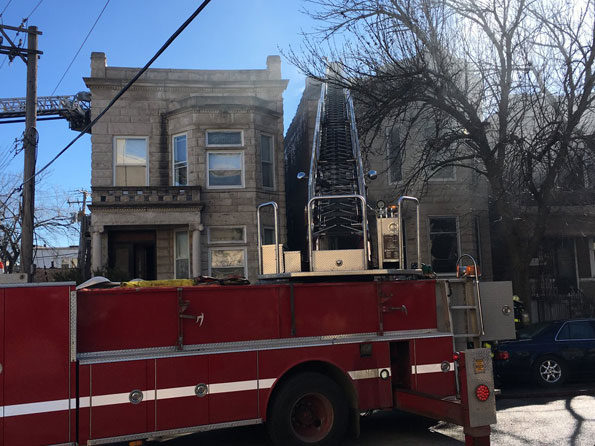 Chicago Fire Department on Saint Louis Avenue at an apartment fire.