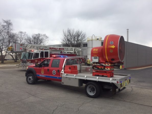 Arlington Heights warehouse fire