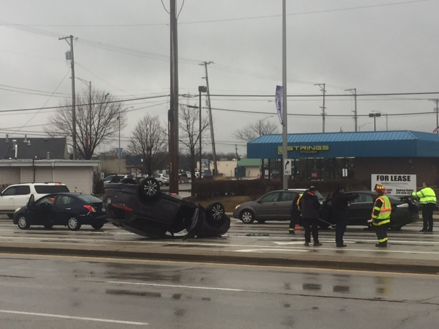 Rollover crash Arlington Heights Golf Road.