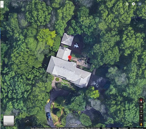 400 Arbor Drive Lake Bluff aerial view
