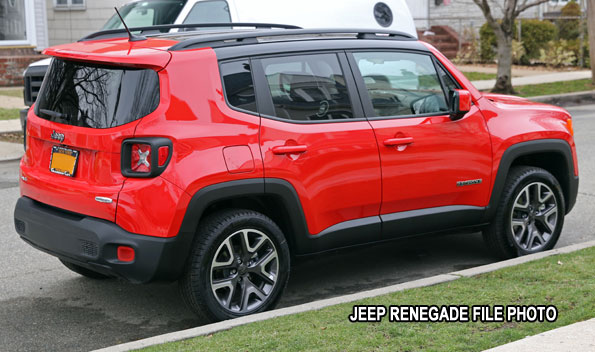Red Jeep Renegade File Photo suspect Fatal Hit-and-Run vehicle
