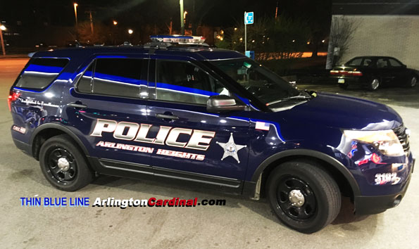 Arlington Heights Police SUV with Thin Blue Line
