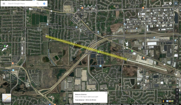 Aircraft Crash Site Distance from Schaumburg Runway