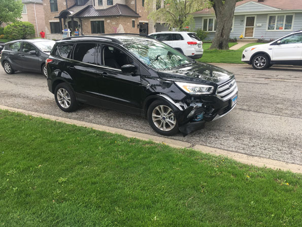 Ford Escape crash damage