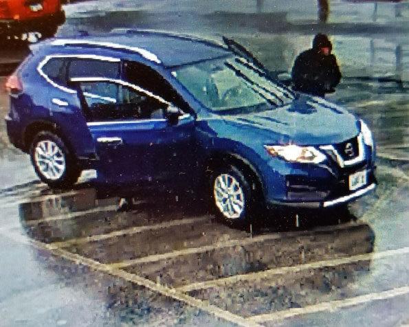 Gurnee Bank Robber's blue Nissan Rogue