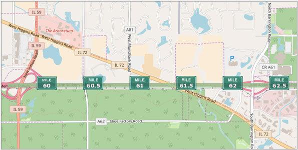 I-90 (Interstate 90): Kennedy Expressway, Jane Addams Memorial ... on