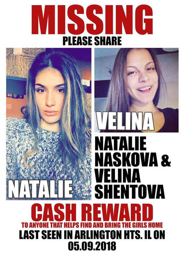 Natalie Naskova and Velina Shentova, missing Arlington Heights, Rolling Meadows