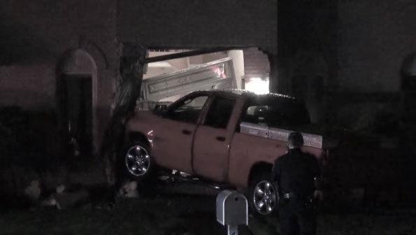 Pickup truck crash Dryden Ave near Rand Road