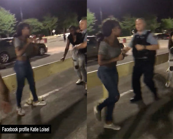 Girls fighting at Great America Gurnee