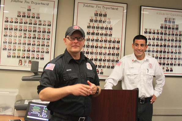 Rolling Meadows firefighter/paramedic Ryan Lettieri and Palatine firefighter/paramedic Marc Campise