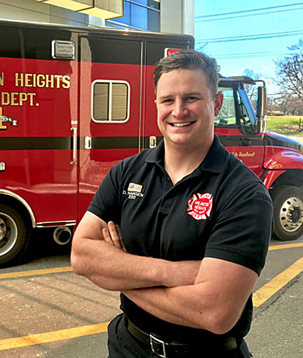 Arlington Heights firefighter/paramedic Andrew Hansen