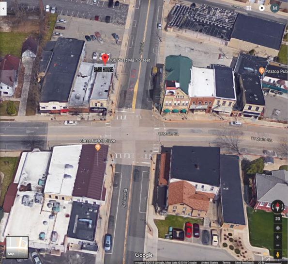 Barr House Aerial View on Google Satellite, Sun Prairie, Wisconsin