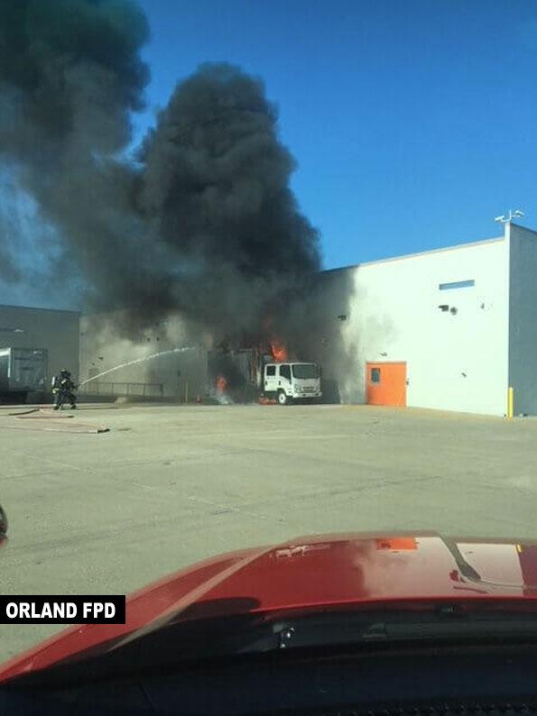 Box Truck Fire at Walmart, OrlandFPD