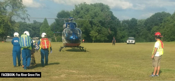 Flight for Life Lift Off Fox River, Fox River Grove