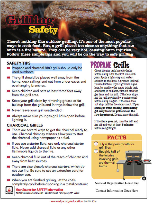 Grilling Safety NFPA