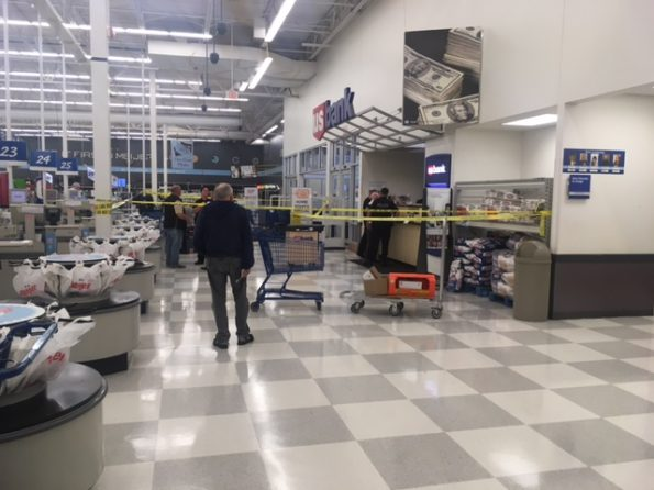Police Tape closes off US Bank at Meijer
