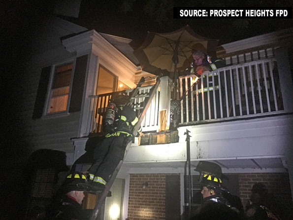 Prospect Heights Balcony Fire
