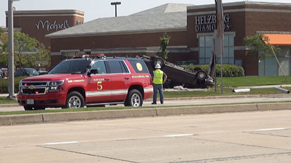 Rollover Crash Meacham Rd and Golf Rd Schaumburg