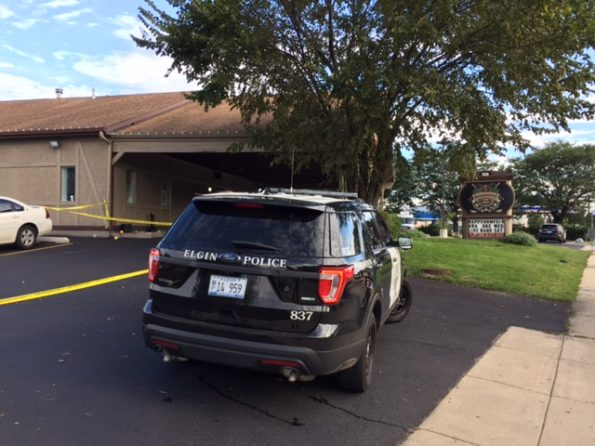 Elgin Police SUV at Crime Scene McClean Boulevard