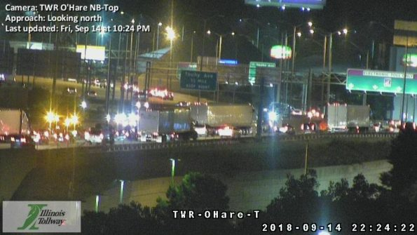 NB I-294 Touhy Friday September 14, 2018 at 10:24 p.m.