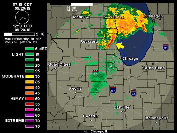 Round Lake Radar from Weather Underground at 719