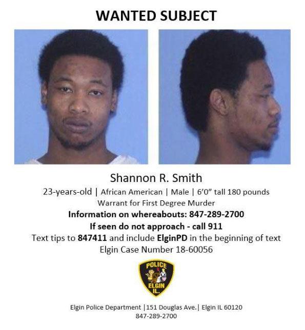 Shannon Smith Elgin homicide suspect
