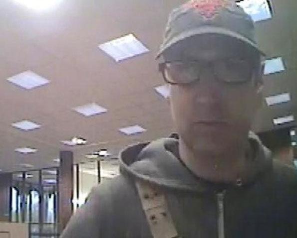 Carpentersville Bank Robber October 10, 2018