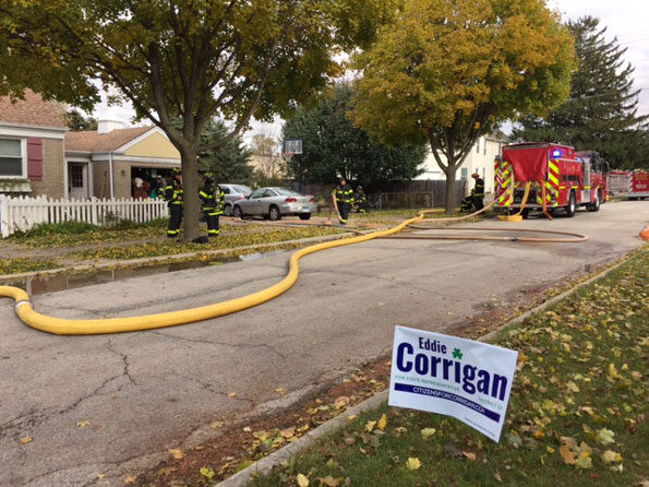 Arlington Heights garage fire