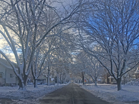 Westbound Eastman Street at Haddow Avenue Arlington Heights