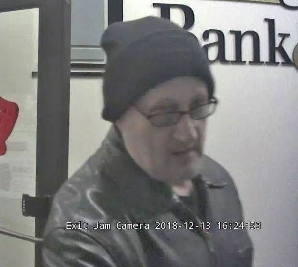 Bank Robbery Suspect Rolling Meadows December 13, 2018